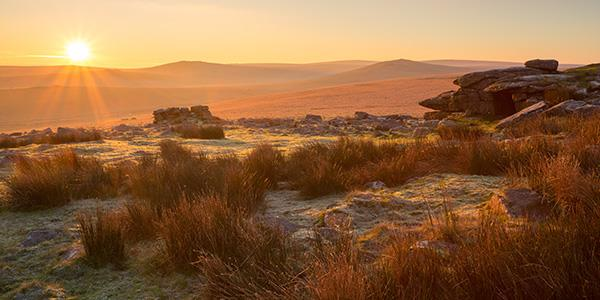 Sunset at Dartmoor national park