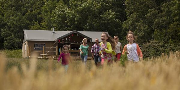 Family fun at Glamping campsite