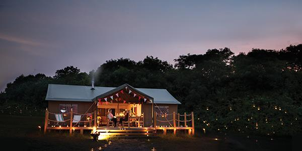 Luxury glamping accomodation for stargazing