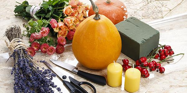 Pumpkin centre piece set