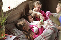 Bedtime stories whilst glamping - thumbnail