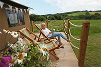 Enjoy the view of the countryside from the deck