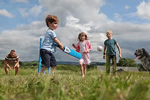 Get the kids active outside playing games