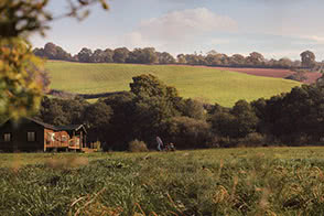 View of the rolling hills surrounding the Kittisford Barton site