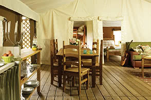 Interior photo of one of the glamping sites - thumbnail