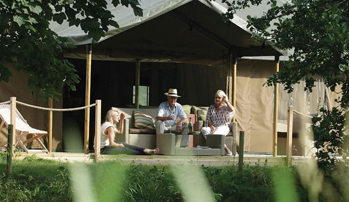 Glamping is the luxurious for of camping with all the essentials included