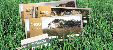 Glamping gift vouchers - perfect present for anyone and any occasion