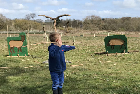 Have a got at using the primative throwing sticks